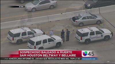 Policia baleó a muerte a un sospechoso en el periférico 8