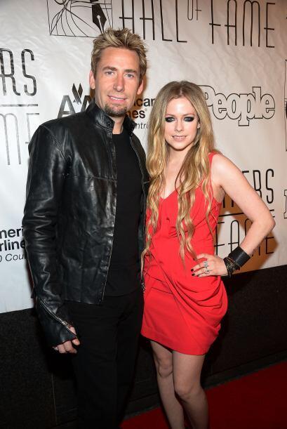 Avril Lavigne también está muy feliz junto a su actual pareja Chad Kroeg...