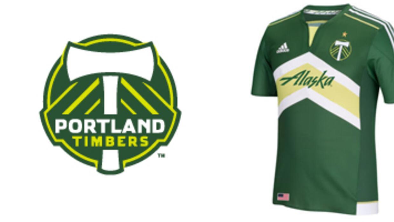 Portland Timbers banner con escudo