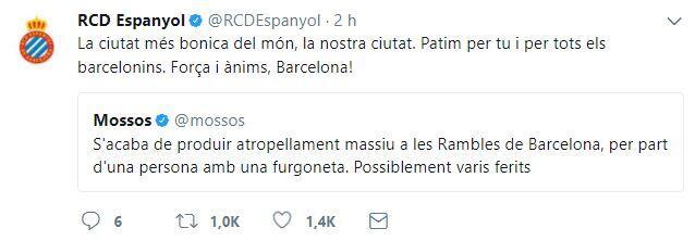 El mundo del deporte se solidariza con las víctimas de Barcelona BCN3.JPG