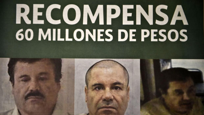 """Cártel de búsqueda de Joaquín """"El Chapo"""" Guzmán."""