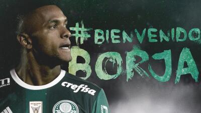 Miguel Borja es recibido con 'carnaval' por la hinchada del Palmeiras