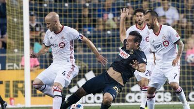 Con doblete de Jonathan Osorio, Toronto FC vuelve a la victoria y derrota 2-0 a Philadelphia