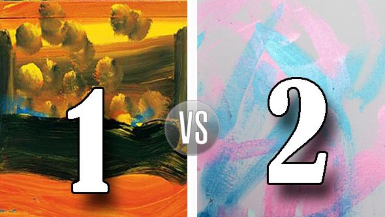¿Cuál de estas dos pinturas crees que fue pintada por un elefante del ci...