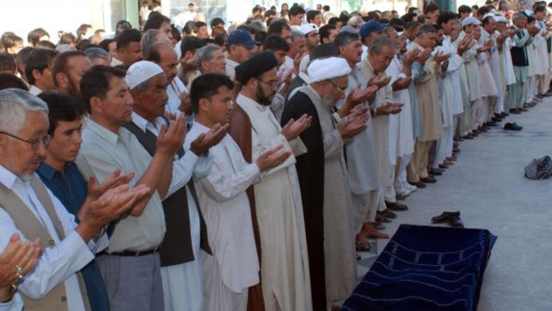 Funeral del exboxeador Abrar Hussain, miembro de la minoría chiita, quie...