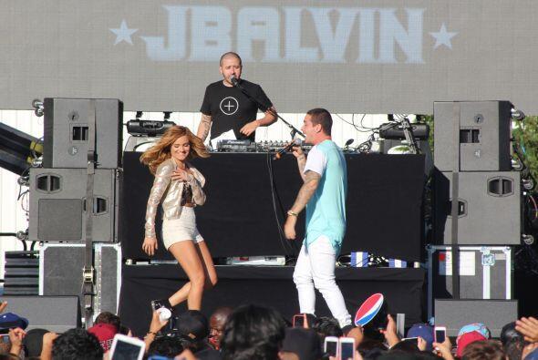 Además, tuvo en el escenario a una invitada especial...