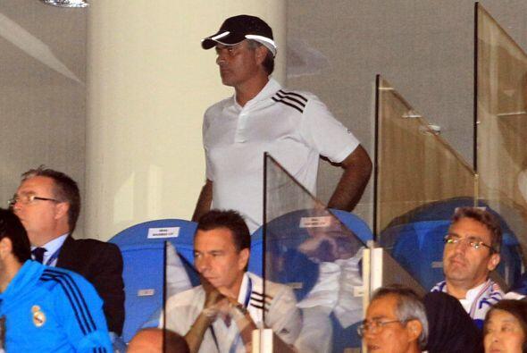 José Mourinho tuvo que estar en un palco ya que tiene una sanción impues...
