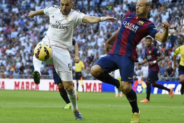 Benzema estaba bien vigilado, la defensa parecía responder.