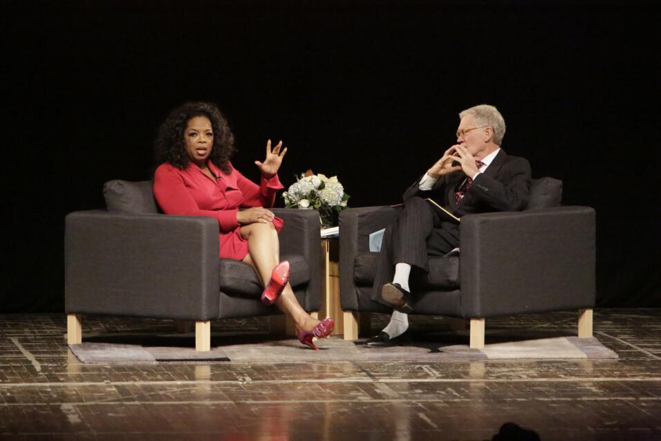 David Letterman y Oprah Winfrey