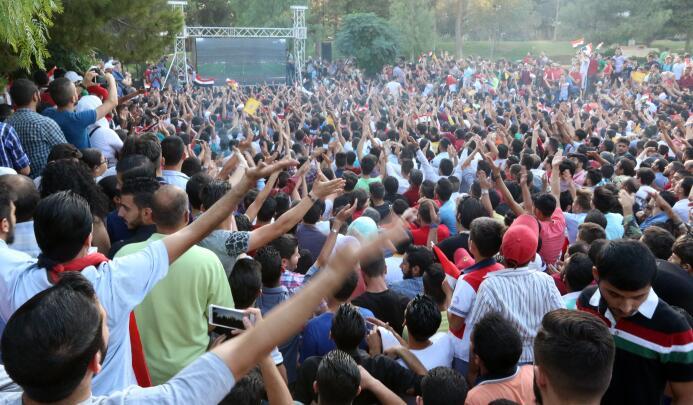 La locura en Siria por la clasificación al repechaje de la Eliminatoria...