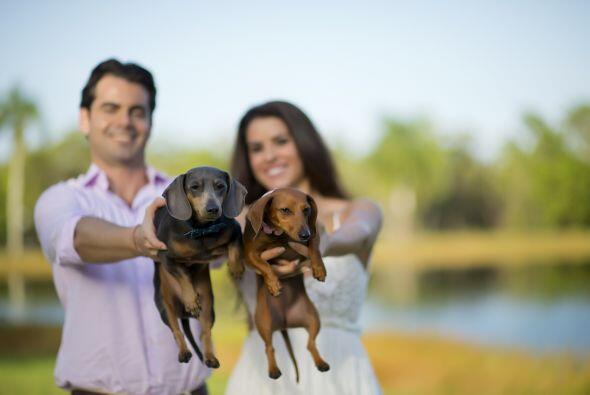Una foto espectacular con sus dos pequeños 'hijos', que sin duda los lle...