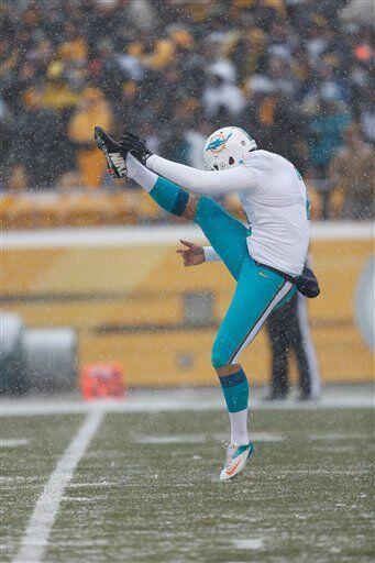 Brandon Fields, pateador de despeje de los Miami Dolphins (AP-NFL).