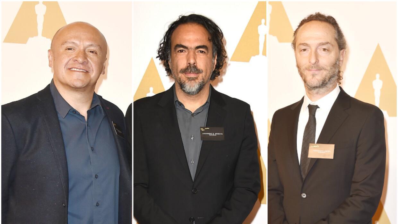Martín Hernández, González Iñárritu y Emmanuel Lubezki