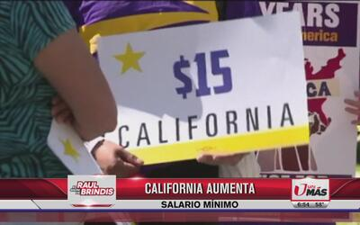 California aumenta salario mínimo