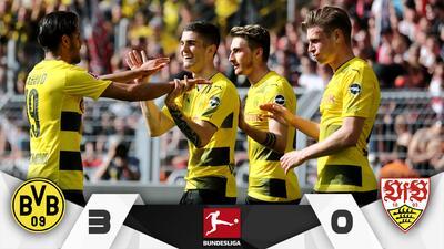 Pulisic guía goleada del Borussia ante el Stuttgart