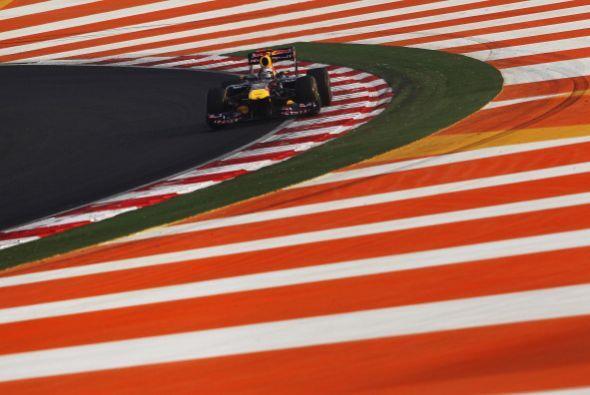 Vettel ganó este domingo el primer Gran Premio de India de Fórmula 1, la...