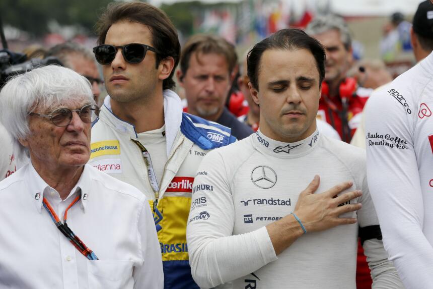 Silencio antes de la carrera de la Formula 1 en Brasil.