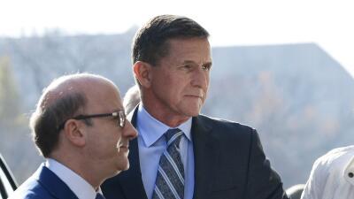 Flynn, a su llegada a la corte en la que se declaró culpable de haber me...