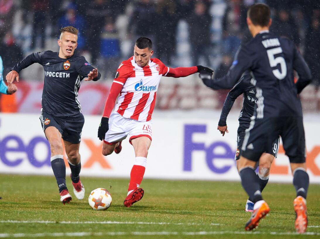 Estrella Roja 0-0 CSKA Moscu: fue el primer partido de la jornada, se di...