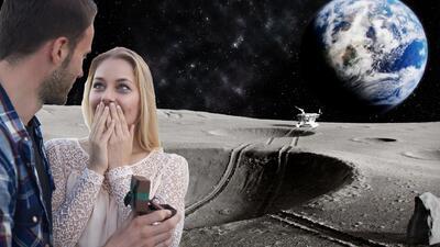 Atención románticos: para el 2022 podrás proponer matrimonio en la luna