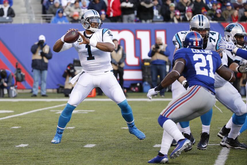 Los Carolina Panthers vencieron dramáticamente 38-35 a los New York Gian...