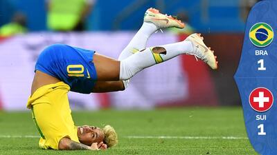 Brasil pecó de exceso de confianza y cedió un empate ante Suiza