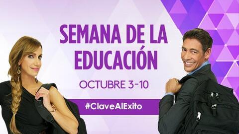 ¡Llega la quinta Semana de la Educación!