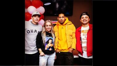 Houston rapper Dice SoHo poses for a photo with DJ Automatic, Dana Corte...