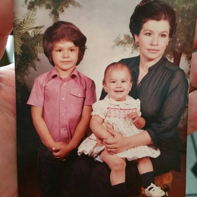 Omar Ramos con su mamá