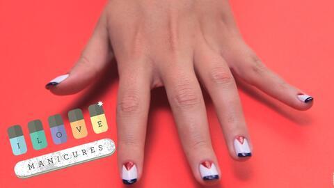 Realiza estos originales diseños en tus uñas.