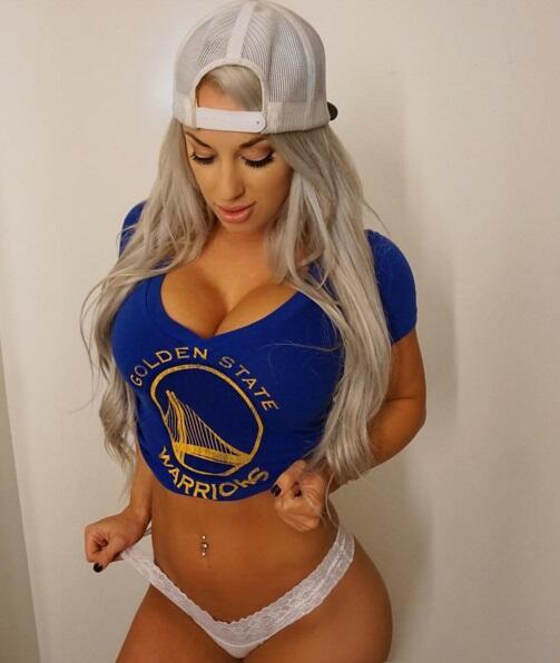 Laci es una modelo estadounidense que es gran fanática de la NBA...