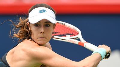 Los rostros en el triunfo de Alize Cornet contra Angelique Kerber en la WTA Rogers Cup
