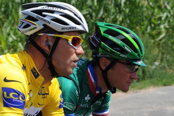 Thor Hushovd lidera el Tour de Francia, pero en la séptima etapa llegó e...