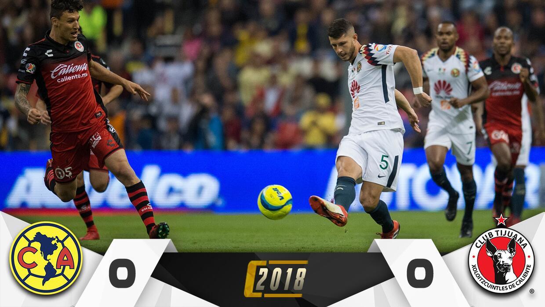 América vs. Tijuana en vivo Clausura 2018