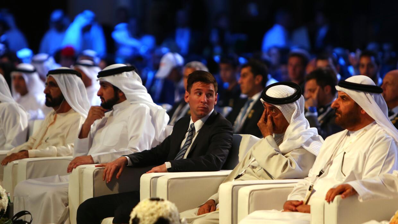 Messi fue el Mejor Jugador del Año por los Globe Socer Awards