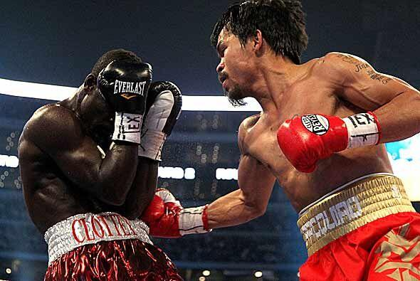 Manny Pacquiao dominó de principio a fin el combate.