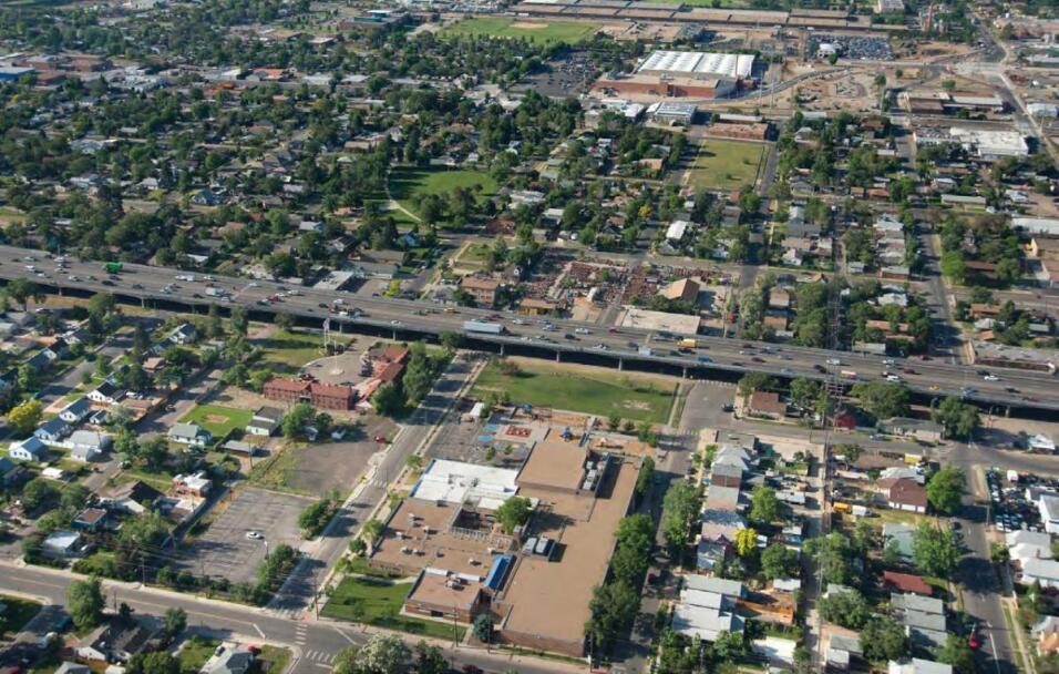 La Interestatal 70, en Denver, Colorado. Esta carretera impacto especial...