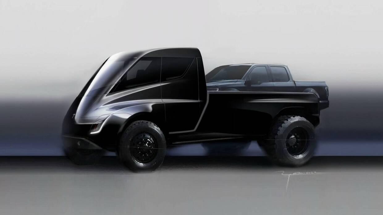 Boceto de la Pickup Tesla