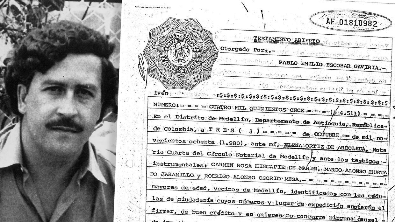Escobar fue a la notaría con tres testigos para firmar su testamento.