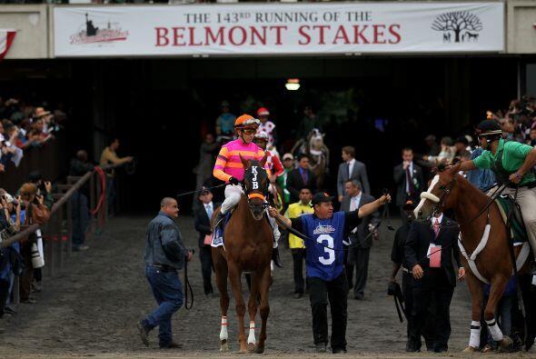 El Belmont Stakes es la tercera carrera de la Triple Corona.