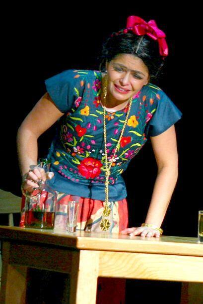 """Encarnó a Frida Kahlo en la obra """"Frida Kahlo, un canto a la vida""""."""