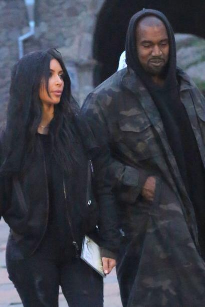 Estas imágenes corresponden a la visita que hizo Kim y Kanye al monaster...