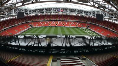 El Otkrytie Arena se prepara para la Copa Confederaciones y el Mundial de Rusia