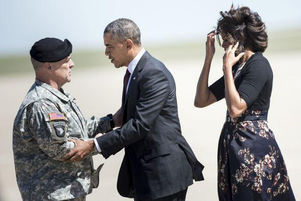 Los Obama de visita en Texas