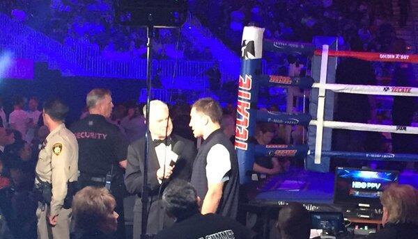 Golovkin entrevistado antes de la Canelo-Khan