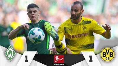Dortmund empata con Bremen y se aleja del segundo sitio