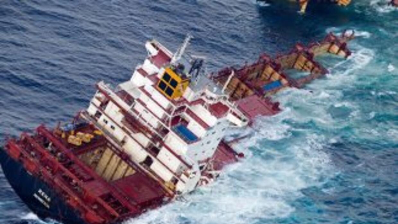 Buque mercante se hunde en Mar del Norte. (archivo)