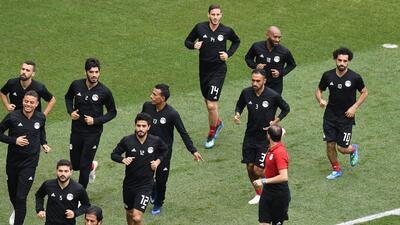 En fotos: Mohamed Salah y Egipto por el honor y un récord contra Arabia Saudita