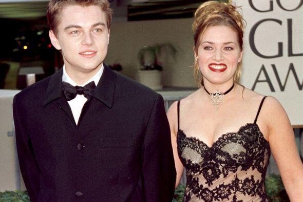 La famosa pareja del 'Titanic' en la entrega 54. Leonardo DiCaprio con '...