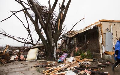 Devastación por tornados en Texas